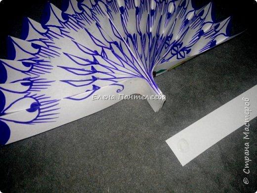 Идею создания такого веера нашла в интернете, но решила упростить задачу материалов, в целях доступности школьникам, на уроке ДПИ. фото 33