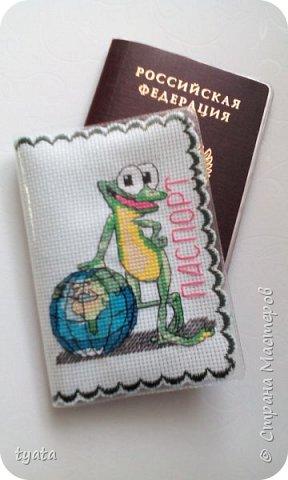 Мои рукоделочки. Обложки для паспорта с вышивкой крестиком и бисером фото 2