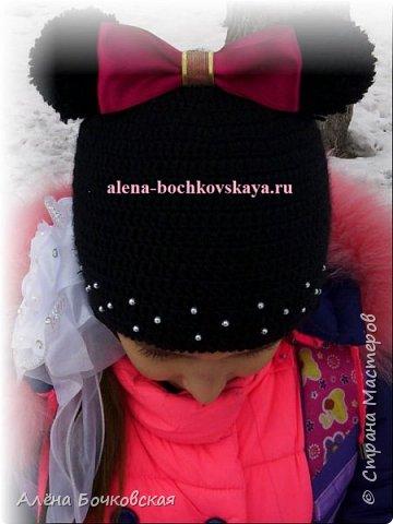 Шапочка связана для моей доченьки в комплект к зимней курточке. Шапочка двойная, очень теплая.  Описание http://alena-bochkovskaya.ru/?p=2963#more-2963 фото 2
