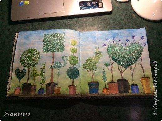 """Раскрашиваю акварельными карандашами """"Таинственный сад"""" фото 1"""