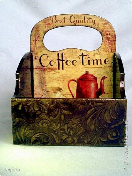 Здравствуйте дорогие мастерицы вот завершила еще один подарок к 8 марта,в одну половинку поставлю кофе а в другую конфеты фото 2