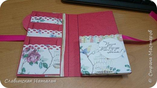 На 8 марта воспитателям в подарок внутри потайной кармашек для сертификата по 2пакетика чая в каждом кармашке и шоколад фото 14