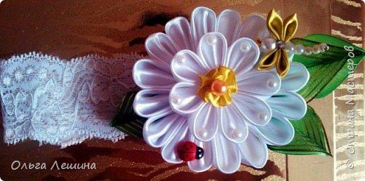 Ободок с бабочкой  фото 8