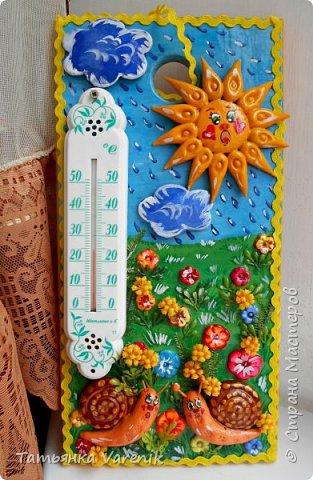 """""""Важней всего погода в доме"""" Украшаем обычный комнатный термометр.  фото 1"""