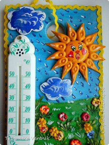 """""""Важней всего погода в доме"""" Украшаем обычный комнатный термометр.  фото 4"""