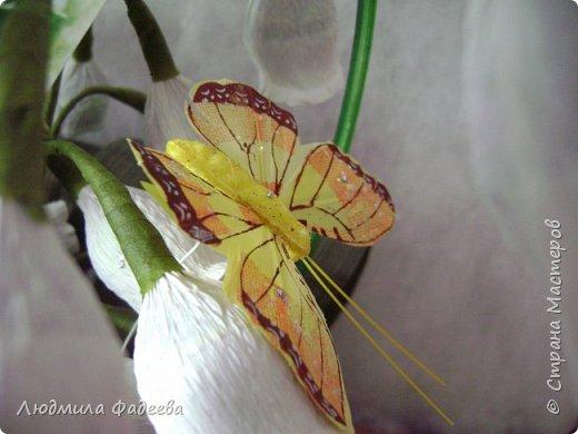 Вторая попытка создания свита. Много недочетов, веточек маловато, хотя корзиночка увесистая получилась 7 веточек по 5 бутончиков, листья крупноваты, цветочки больше на колокольчики похожи. Буду только рада рекомендациям. фото 5