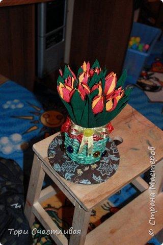 Тюльпанчики к 8 марта пробую делать) делала по МК Лисенка Кисенка http://stranamasterov.ru/node/781808?c=favorite фото 1