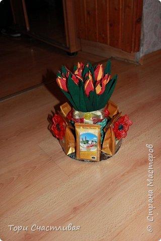 Тюльпанчики к 8 марта пробую делать) делала по МК Лисенка Кисенка http://stranamasterov.ru/node/781808?c=favorite фото 2