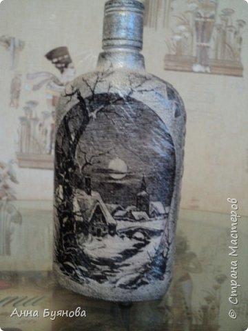 Бутылка по мотивам  шаманских легенд в картинах Сьюзен Седдон Булет. Подарок мужу. фото 4