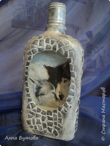 Бутылка по мотивам  шаманских легенд в картинах Сьюзен Седдон Булет. Подарок мужу. фото 3