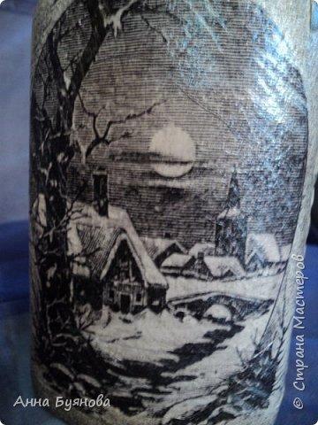 Бутылка по мотивам  шаманских легенд в картинах Сьюзен Седдон Булет. Подарок мужу. фото 5