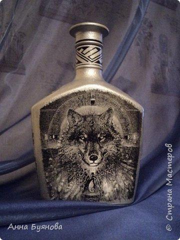 Бутылка по мотивам  шаманских легенд в картинах Сьюзен Седдон Булет. Подарок мужу. фото 1