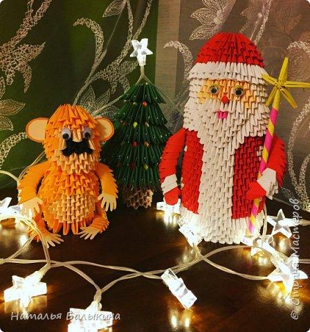 Композиция дед Мороз и обезьянка фото 1