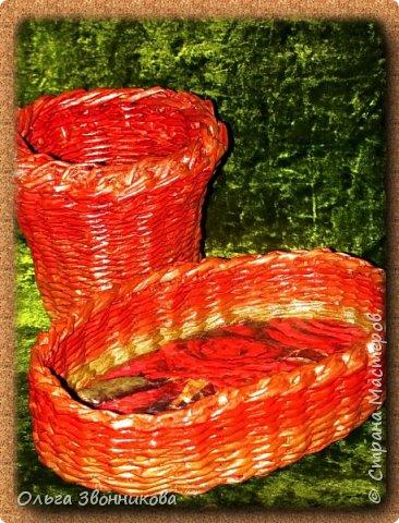 """Набор для вина """"Мельница"""" изготовлен из газетных трубочек. Плела ориентируясь на мастер -классы в YouTube. фото 5"""