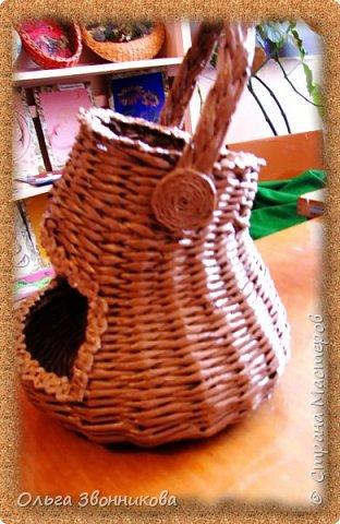 """Набор для вина """"Мельница"""" изготовлен из газетных трубочек. Плела ориентируясь на мастер -классы в YouTube. фото 4"""