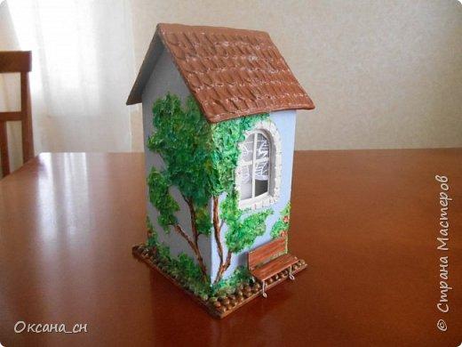 Здравствуйте Мастера и Мастерицы! Хочу поделиться новым изделием и небольшим МК. Когда пришла идея создать домик для чайных пакетиков, я стала искать в интернете идеи для оформления. Сколько прекрасных домиков я видела!  Я предложила своим ученицам создать такой домик в подарок маме к 8 Марта - прекрасная и полезная поделка для кухни. Спасибо Марине за идею оформления http://stranamasterov.ru/node/349655. Очень мне понравился её домик и я попробовала сотворить подобное. фото 14
