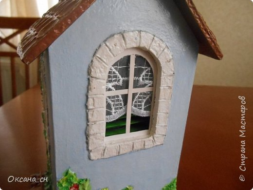 Здравствуйте Мастера и Мастерицы! Хочу поделиться новым изделием и небольшим МК. Когда пришла идея создать домик для чайных пакетиков, я стала искать в интернете идеи для оформления. Сколько прекрасных домиков я видела!  Я предложила своим ученицам создать такой домик в подарок маме к 8 Марта - прекрасная и полезная поделка для кухни. Спасибо Марине за идею оформления http://stranamasterov.ru/node/349655. Очень мне понравился её домик и я попробовала сотворить подобное. фото 3