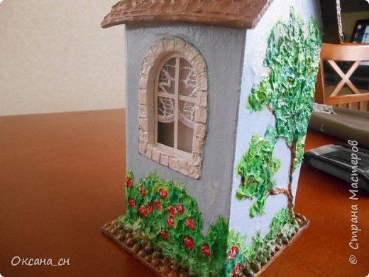 Здравствуйте Мастера и Мастерицы! Хочу поделиться новым изделием и небольшим МК. Когда пришла идея создать домик для чайных пакетиков, я стала искать в интернете идеи для оформления. Сколько прекрасных домиков я видела!  Я предложила своим ученицам создать такой домик в подарок маме к 8 Марта - прекрасная и полезная поделка для кухни. Спасибо Марине за идею оформления http://stranamasterov.ru/node/349655. Очень мне понравился её домик и я попробовала сотворить подобное. фото 7
