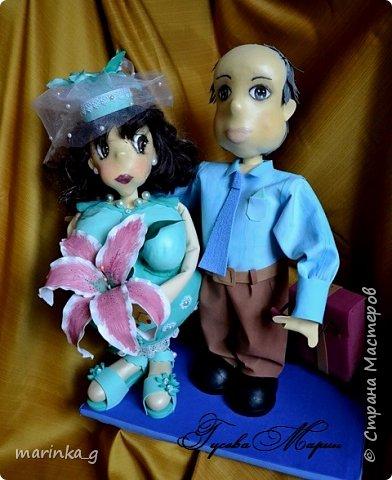 Это самая последняя моя работа.Попросили сделать на юбилей свадьбы… И я как всегда размахнулась)))Кукол сделала ростом 60 см. фото 1