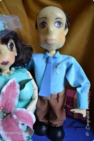 Это самая последняя моя работа.Попросили сделать на юбилей свадьбы… И я как всегда размахнулась)))Кукол сделала ростом 60 см. фото 2