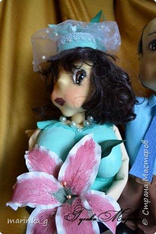 Это самая последняя моя работа.Попросили сделать на юбилей свадьбы… И я как всегда размахнулась)))Кукол сделала ростом 60 см. фото 3