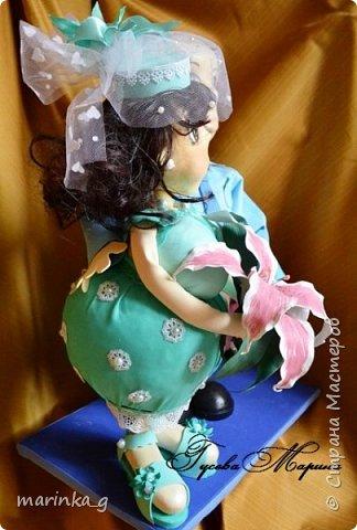 Это самая последняя моя работа.Попросили сделать на юбилей свадьбы… И я как всегда размахнулась)))Кукол сделала ростом 60 см. фото 4