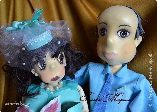 Это самая последняя моя работа.Попросили сделать на юбилей свадьбы… И я как всегда размахнулась)))Кукол сделала ростом 60 см. фото 7