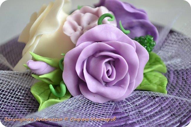Шкатулочка с цветочным декором из холодного фарфора . фото 6