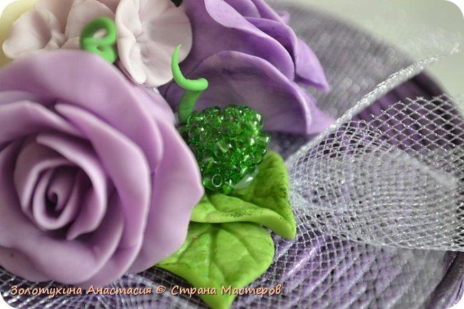Шкатулочка с цветочным декором из холодного фарфора . фото 7