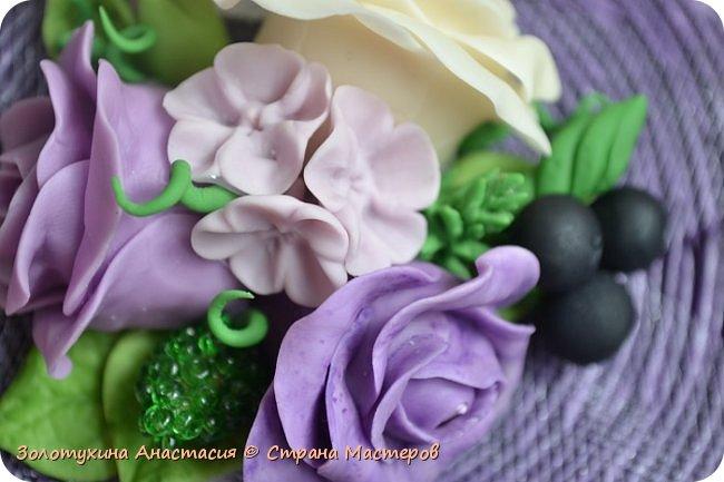 Шкатулочка с цветочным декором из холодного фарфора . фото 8