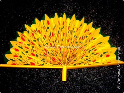 Идею создания такого веера нашла в интернете, но решила упростить задачу материалов, в целях доступности школьникам, на уроке ДПИ. фото 46