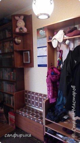 Первая работы папы. Диванчик в коридор. Сиденье поднимается. Внутри ящик для хранения тапок. фото 9