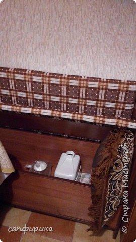 Первая работы папы. Диванчик в коридор. Сиденье поднимается. Внутри ящик для хранения тапок. фото 14
