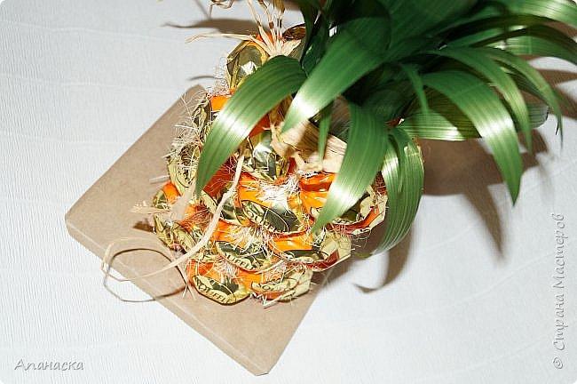 Конфеты и бутылка в образе ананаса фото 5