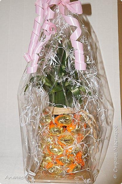 Конфеты и бутылка в образе ананаса фото 7
