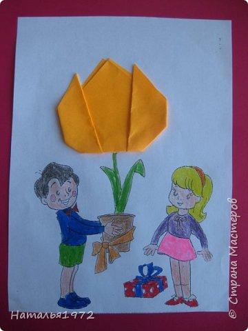"""Вот такими открытками поздравят своих мам ученики 2 """"Б"""" класса. фото 4"""