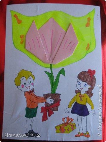"""Вот такими открытками поздравят своих мам ученики 2 """"Б"""" класса. фото 5"""