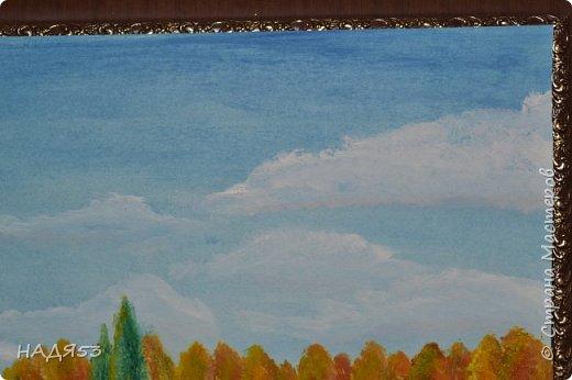 Добрый день дорогие соседи.Вот решила все таки показать Вам мои творческие порывы,ну очень хочется учиться рисовать.Не ругайте меня строго.но вот только на пенсии появилось время учиться.Эту работу я сделала по мастер классу американского художники БОБ РОССА.Краски масло. фото 14