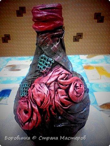 Всем доброго дня! Представляю продолжение серии ваз из стеклянных бутылок и папье маше. Но этот кувшин : гипс на воздушном шарике по МК Любови Подолинной. фото 5