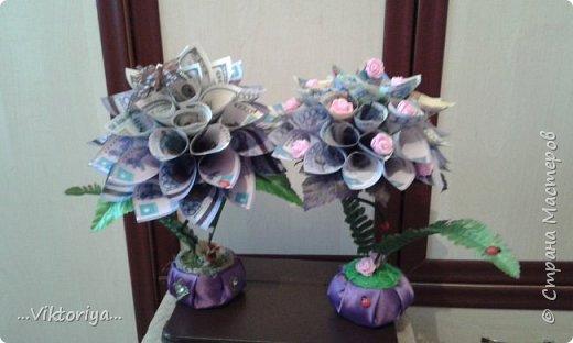 """Приветствую всех жителей страны!!! Хочу продемонстрировать вам своё новое денежное дерево,только решила его дополнительно """"обогатить"""" розами из фома.  фото 4"""