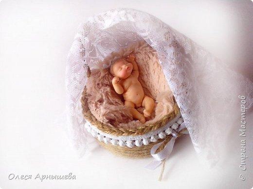 Младенец из полимерной глины фото 3