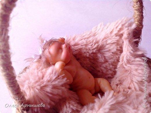 Младенец из полимерной глины фото 5