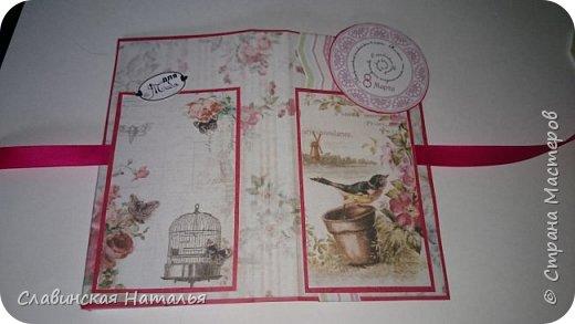 На 8 марта воспитателям в подарок внутри потайной кармашек для сертификата по 2пакетика чая в каждом кармашке и шоколад фото 17