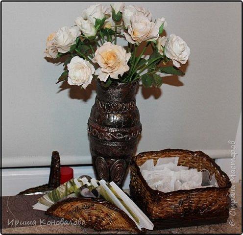 Сплела небольшие приспособления для кухонного стола... Предлагаю посмотреть все на фото. фото 1