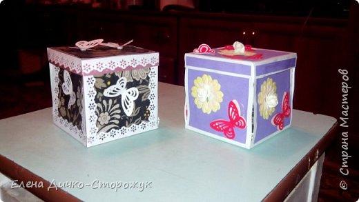 такие 2 коробочки я сделала для своих 2 коллег фото 1
