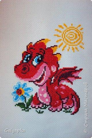 Мой самый первый дракон, схема из журнала по вышивке фото 8