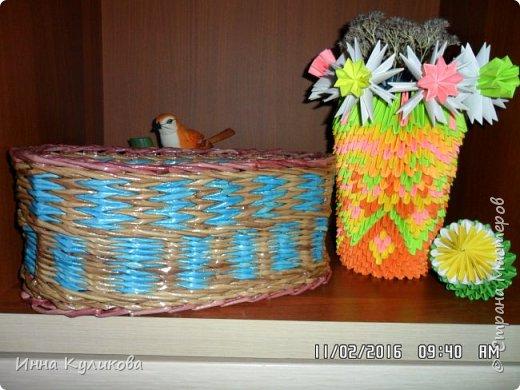Плетение из бумажной лозы.Начало фото 1