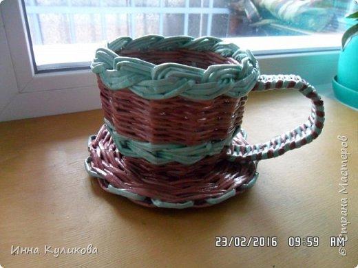 Плетение из бумажной лозы.Начало фото 4