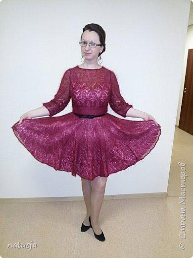 платье связано из кид мохера, ушло приблизительно 300 гр