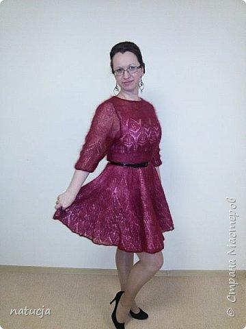 платье связано из кид мохера, ушло приблизительно 300 гр фото 2